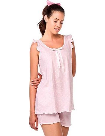 Vamp ροζ πουά αμάνικο babydoll 6779 f23107df6af
