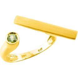 Χρυσό δαχτυλίδι Κ14 με peridot DF844A 7713789111d
