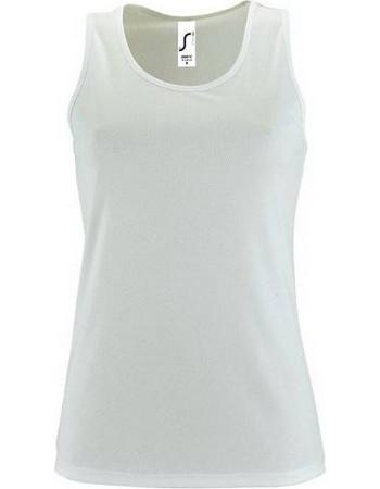 f4355aef40cc Sol s Sporty TT Women Λευκό 02117 Γυναικείο αθλητικό αμάνικο μπλουζάκι -  WHITE-102