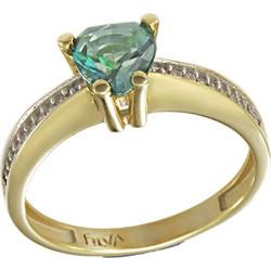 Δαχτυλίδι μονόπετρο χρυσό 14 καράτια με ορυκτό σμαράγδι swarovski(R) 5bb992286b3