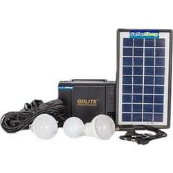 Ηλιακό πακέτο κιτ φωτισμού panel + Power Bank μπαταρία με θύρα USB + 3  λάμπες LED 8f92834b933
