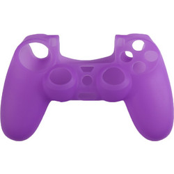 PRO SOFT SILICONE PROTECTIVE DUALSHOCK 4 COVER RIBBED GRIP PURPLE ASSECURE (PS4)