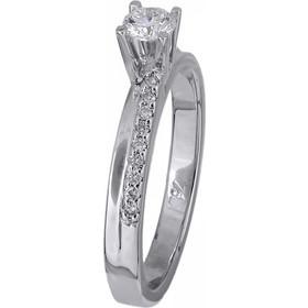 Μονόπετρο δαχτυλίδι λευκόχρυσο με διαμάντια 18Κ 012463 012463 Χρυσός 18  Καράτια acf92d48a98