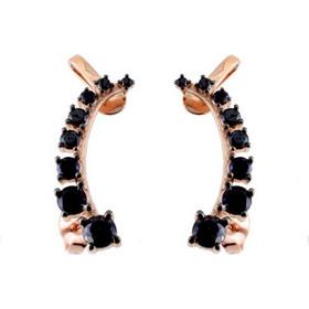 Ασημένια σκουλαρίκια ear cuff 925 σε ροζ χρώμα SKSL157A ae5e9083f0b