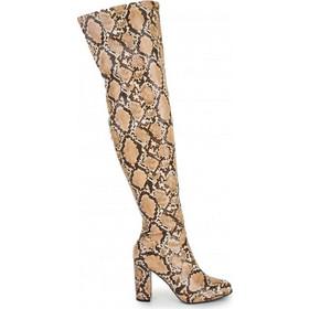SQ3230 Μπότες Over the Knee Snake Skin - ΚΑΦΕ 17576 43d35bb7b8d