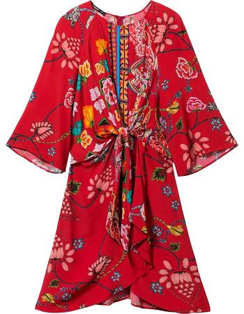 4af775c0fb39 Desigual γυναικείο μίνι φόρεμα floral Glen - 19SWVWAE - Κόκκινο