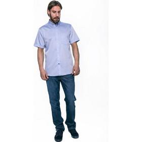 ed4d1c390316 Ανδρικό πουκάμισο με κοντό μανίκι The Bostonians - - Ανοιχτό Γαλάζιο