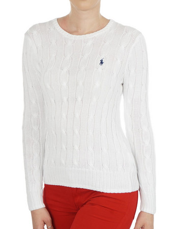 b805a87f14 POLO RALPH LAUREN CABLE-KNIT COTTON SWEATER 211580009005