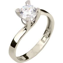 b81afb6677 Ασημένιο μονόπετρο δαχτυλίδι 925 με Swarovski ζιργκόν DSL370A