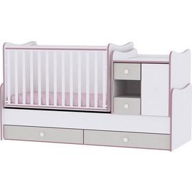 708979a0cc9 Κρεβάτι Minimax Μετατρεπόμενο Πολυμορφικό White/Pink Crossline Lorelli  10150500032A (ΔΩΡΟ στρώμα Top Exclusive Lorelli
