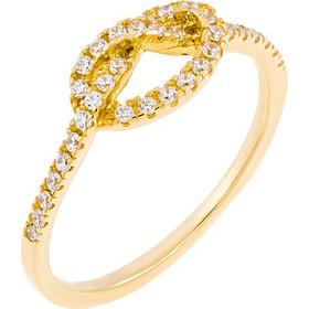 Δαχτυλίδι με κόμπο από χρυσό 14 καρατίων και ζιρκόν. Ο κόμπος συμβολίζει το δεσμό  δύο 29f1c5822d5