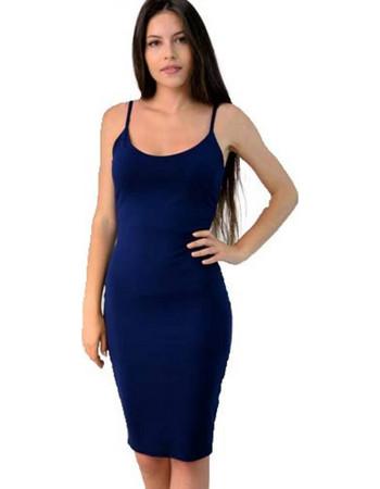 Midi εξώπλατο φόρεμα. First Woman 01fcf388a7f
