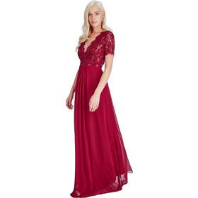 3d2b3052020f shinny paillete top αέρινο μπορντώ φόρεμα Daphne