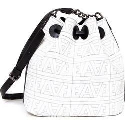 Elena Athanasiou Logo Pouch Bag (EA-043 White-Black-Nikel) c8629b294c3
