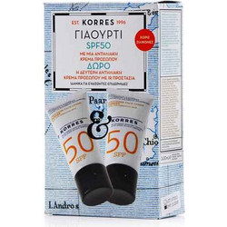 Korres Γιαούρτι Face Cream Spf50 2x50ml