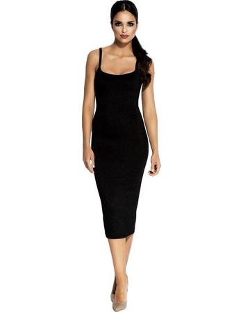533b47ecb107 60028 DR Μίντι μεταλιζέ φόρεμα - Μαύρο