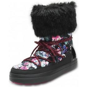 Crocs Women s LodgePoint Graphic Lace Boot Tropical   Black Crocs d15180b4ca3