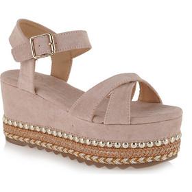 14251c8e9a Shoes Γυναικεία Πέδιλα Πλατφόρμες MACAU-716 Nude... Exe .