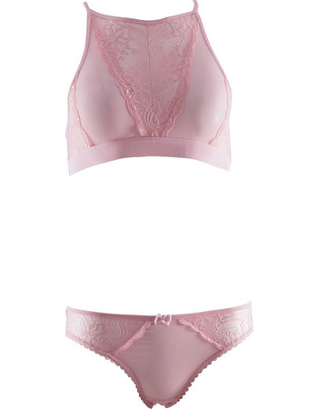 Set bralette χωρίς ενίσχυση με δαντέλα ιδιαίτερο σχέδιο στη πλάτη   bikini  κανονικό.Romantic style 8b04539bc5a