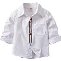 a25313ad0e96 2018 New Product White Boys Long Sleeved Shirt