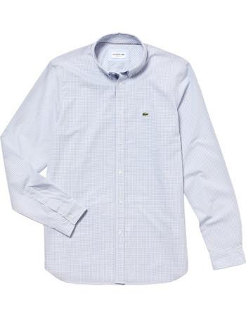 98adac50f6f5 Lacoste ανδρικό πουκάμισο με καρό σχέδιο - CH0483 - Γαλάζιο