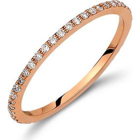 Δαχτυλίδι ολόβερο από ροζ χρυσό 18 καρατίων με διαμάντια 0 06309927a33