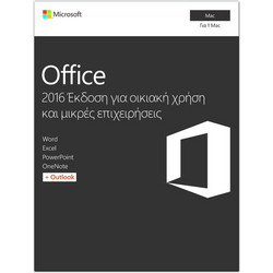 MICROSOFT SW Office Mac Home and Business 2016 ENG - Συνδρομή για 1 PC - (W6F-00952)