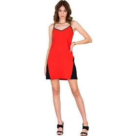 507d6178fc13 Huxley and Grace κοραλί φόρεμα με μάυρη λεπτομέρεια 162201