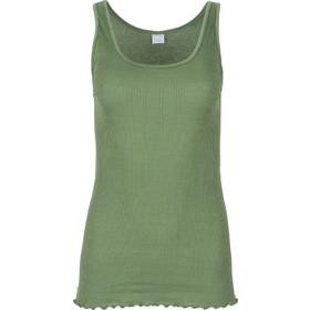 d75312379a30 Moretta πράσινη-λαδί βαμβακερή filo scozia ριπ αμάνικη μπλούζα πολυτελείας  Beatrice 3720