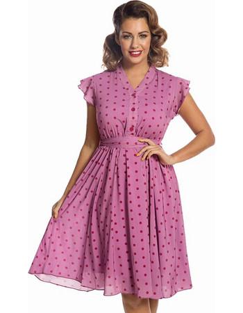 vintage αέρινο 40s tea φόρεμα Kendra dirty πουά a70ca353e3b