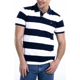 672b74483396 Gant ανδρική μπλούζα ριγέ πόλο - 222110 - Λευκό