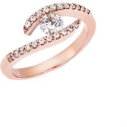 Δαχτυλίδι Μονόπετρο Ροζ Χρυσό 14Κ με Ζιργκόν b0459b38525