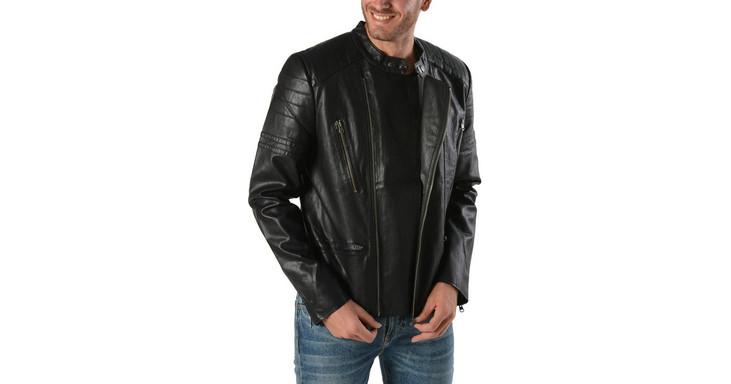 leather jacket - Ανδρικά Μπουφάν Basehit  fd53c726625