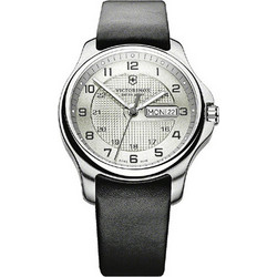 Victorinox Swiss Army officer S Black Leather Strap 241550 9bd6825c9e1