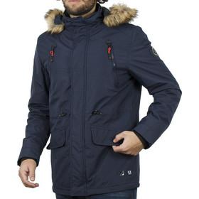 cbf3313af07 Ανδρικό Μακρύ Μπουφάν Parka Jacket με Κουκούλα ICE TECH G629 Navy