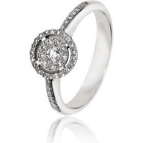Δαχτυλίδι Ροζέτα Λευκό Χρυσό 18 Καρατίων Κ18 με Διαμάντια Μπριγιάν 030712 38ba7fd116c