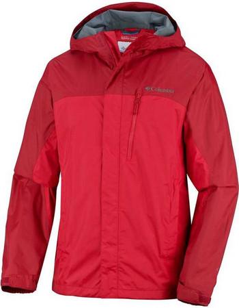 Αδιάβροχο αντιανεμικό ανδρικό μπουφάν Columbia Pouring Adventure Jacket  Bright Red Κόκκινο Columbia e6c63a9f1a6