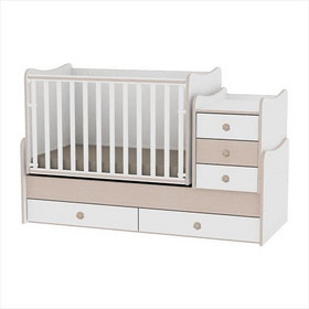 e1bbe9f61c5 Βρεφικό μετατρεπόμενο σε εφηβικό κρεβάτι Lorelli Maxi Plus- White/Oak