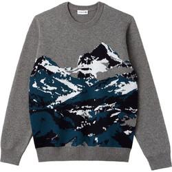 5fa457015b00 Lacoste ανδρικό πουλόβερ Mountain Print - AH9201 - Γκρι