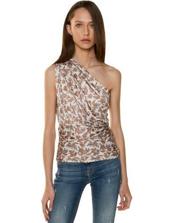 TOI   MOI Μπλούζα με έναν ώμο και σούρες στη μέση 80-4198-19 9637606812b