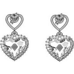 Σκουλαρίκια συλλογή Love καρδιά από ασήμι με πέτρες Swarovski 3992891c376