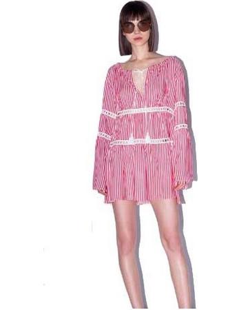 Φόρεμα παραλίας Boho Sugarfree 880560 - κόκκινο 8b321a8593f