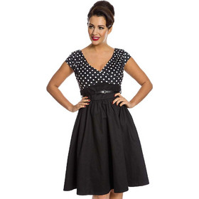c68e2f13e78b vintage pin up πουά φόρεμα Valeria