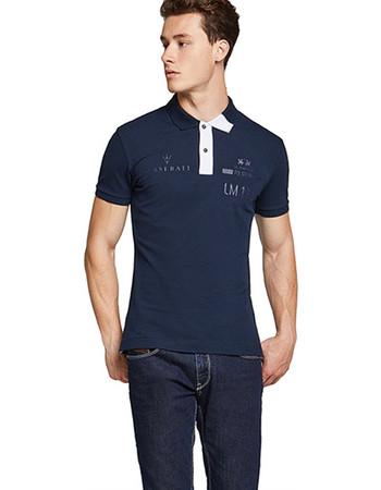 La Martina ανδρική μπλούζα πόλο Winston - MMPM30-PK001 - Μπλε Σκούρο a32b4110300