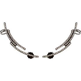 Ασημένια σκουλαρίκια ear cuff 925 με μαύρο επιπλατίνωμα SKSL337A 8350aa377dc