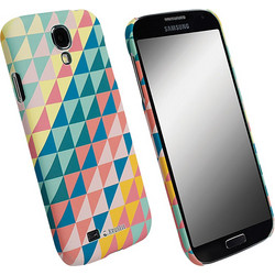 Krusell Printcover Green Triangle (Galaxy S4)
