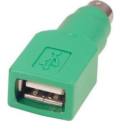 USB A Jack to mini DIN6 male Adapter (USB to PS/2)(Green) SK6642