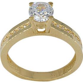 Δαχτυλίδι μονόπετρο χρυσό 14 καράτια με ζιργκόν 6 χιλιοστά 3fd68a2b3da