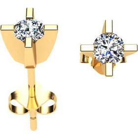 Σκουλαρίκια σε λευκό χρυσό Κ18 με μπριγιάν d85b7274799