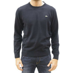 17c5b7d9577e LACOSTE WOOL CREW NECK SWEATER NAVY BLUE